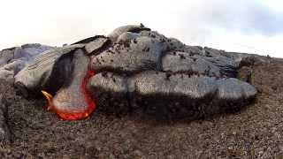 5 17 13 Lava Flow Hawaii Kilauea Volcano Lava Flow GoPro Hero 2