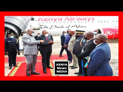 President Uhuru Kenyatta arrival at Democratic Republic of Congo for a 3-day State Visit