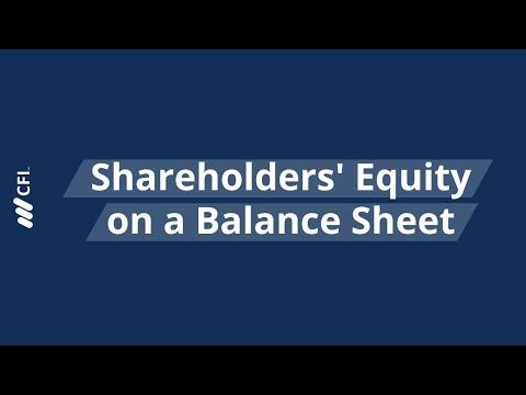 Shareholders' Equity on a Balance Sheet