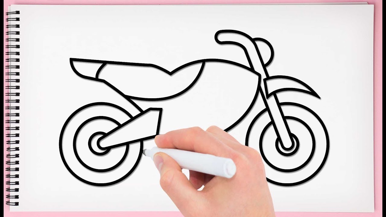 It's just a graphic of Peaceful Bike Drawing Simple