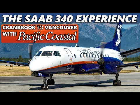 FLYING THE SAAB 340B! Pacific Coastal Cranbrook to Vancouver
