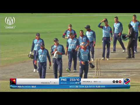 Live Cricket Png Vs Namibia Icc World Cricket League League 2