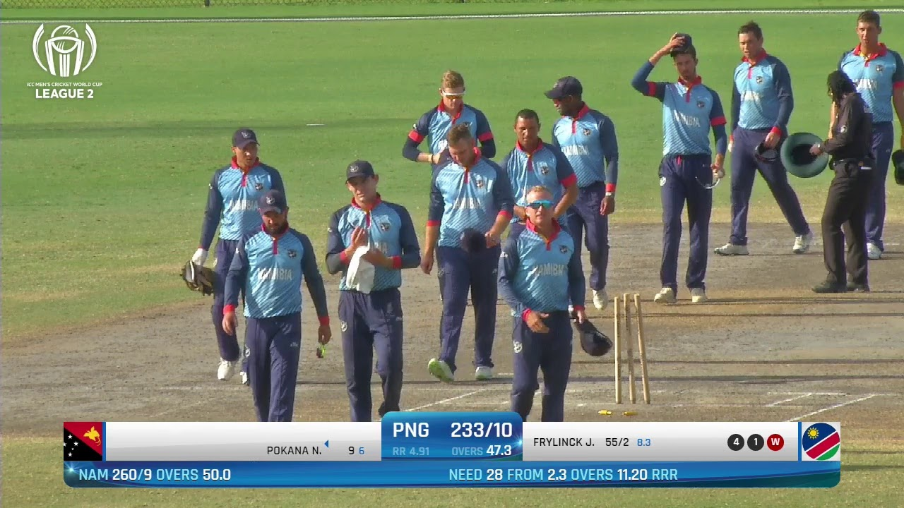 Download LIVE CRICKET - PNG vs Namibia ICC World Cricket League League 2