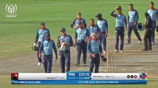 LIVE CRICKET - PNG vs Namibia ICC World Cricket League League 2