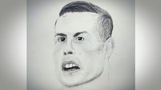 Cristiano Ronaldo drawing | Simple sketch of cristiano ronaldo