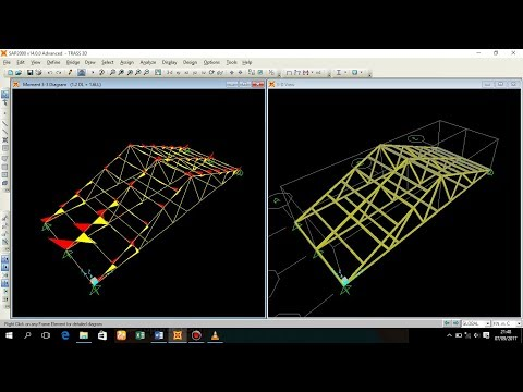 Dimensi Truss Baja Ringan Totorial Sap2000 Desain Rangka Kuda 3d Youtube