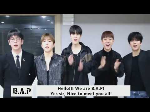 """181025 B.A.P : Greeting Video Of [B.A.P """"Forever With BABYz"""" 2018 Europe Tour]"""