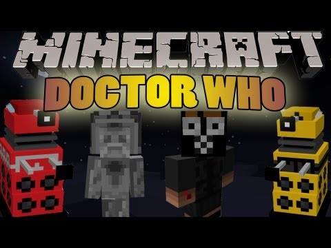 [MINECRAFT] Doctor Who Mod! 1.4.7 - Daleks, CyberMen, TARDIS and more!