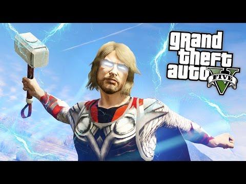 GTA 5 Mods - THOR MOD w/ THOR'S HAMMER!! GTA 5 Thor Mod Gameplay! (GTA 5 Mods Gameplay)