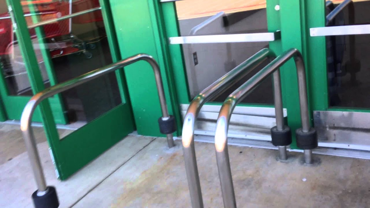 Besam automatic swing doors at super target grocery in
