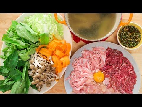 "Thai Hot Pot Recipe ""Jim Jum"" จิ้มจุ่ม แจ่วฮ้อน – Hot Thai Kitchen!"