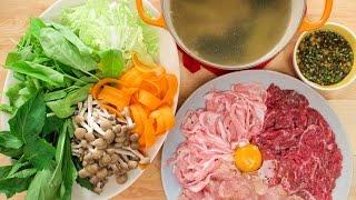 "Thai Hot Pot Recipe ""Jim Jum"" จิ้มจุ่ม แจ่วฮ้อน - Hot Thai Kitchen!"