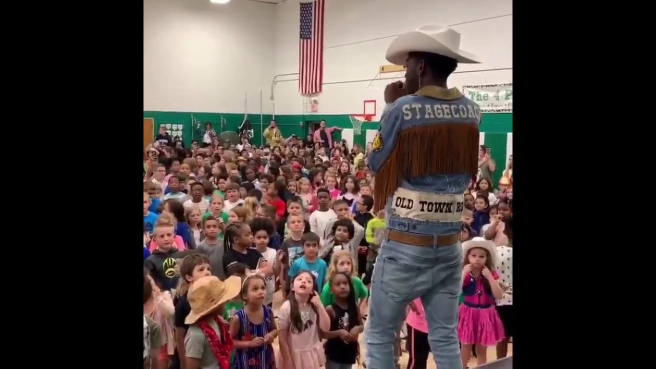 Lil Nas X surprising the kids of Lander Elementary - YouTube