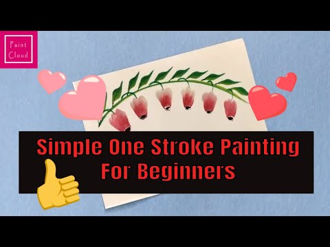 How to Paint Bellflowers | Simple One Stroke Painting | Beginners tutorial |Paint Cloud