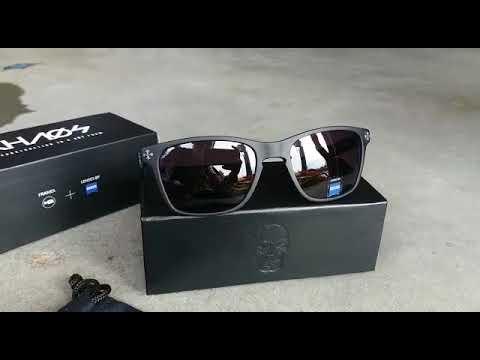 fc6aa35d43ed2 Óculos de sol Skull MT Black C AGED Silve Gray HB 30 09 2017 - YouTube