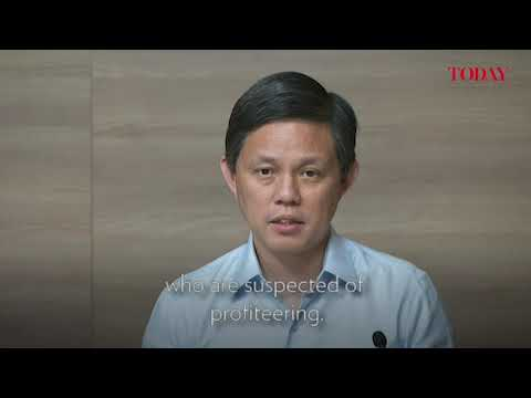 Trade and Industry Minister Chan Chun Sing on how some sellers have tried to profit from a surge in