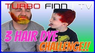 3 Hair Dye Challenge with a Beard!!!!!   Three Color Hair Spray Challenge