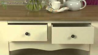 Cotswold Cream Painted Shaker Solid Oak Coffee Table From Oak Furniture Land