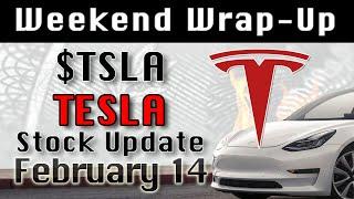 TESLA : TSLA Feb-14 Weekend Wrap-Up StockMarket Technical Analysis Chart