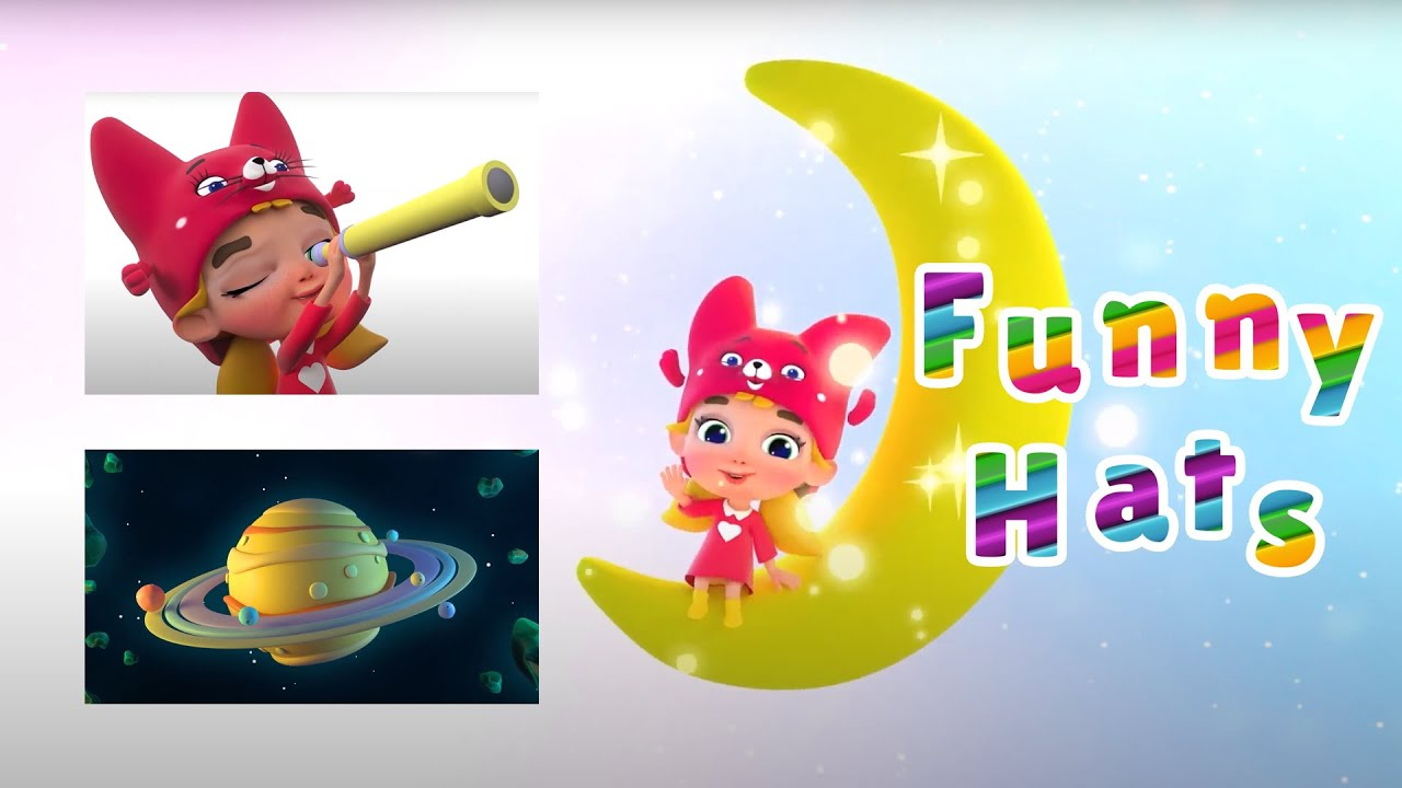 Funny Hats learn funny nursery rhymes with simple songs for kids