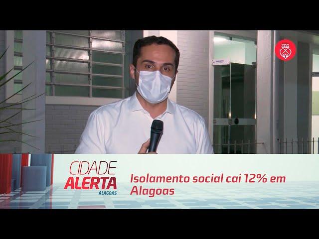 Isolamento social cai 12% em Alagoas entre domingo e segunda