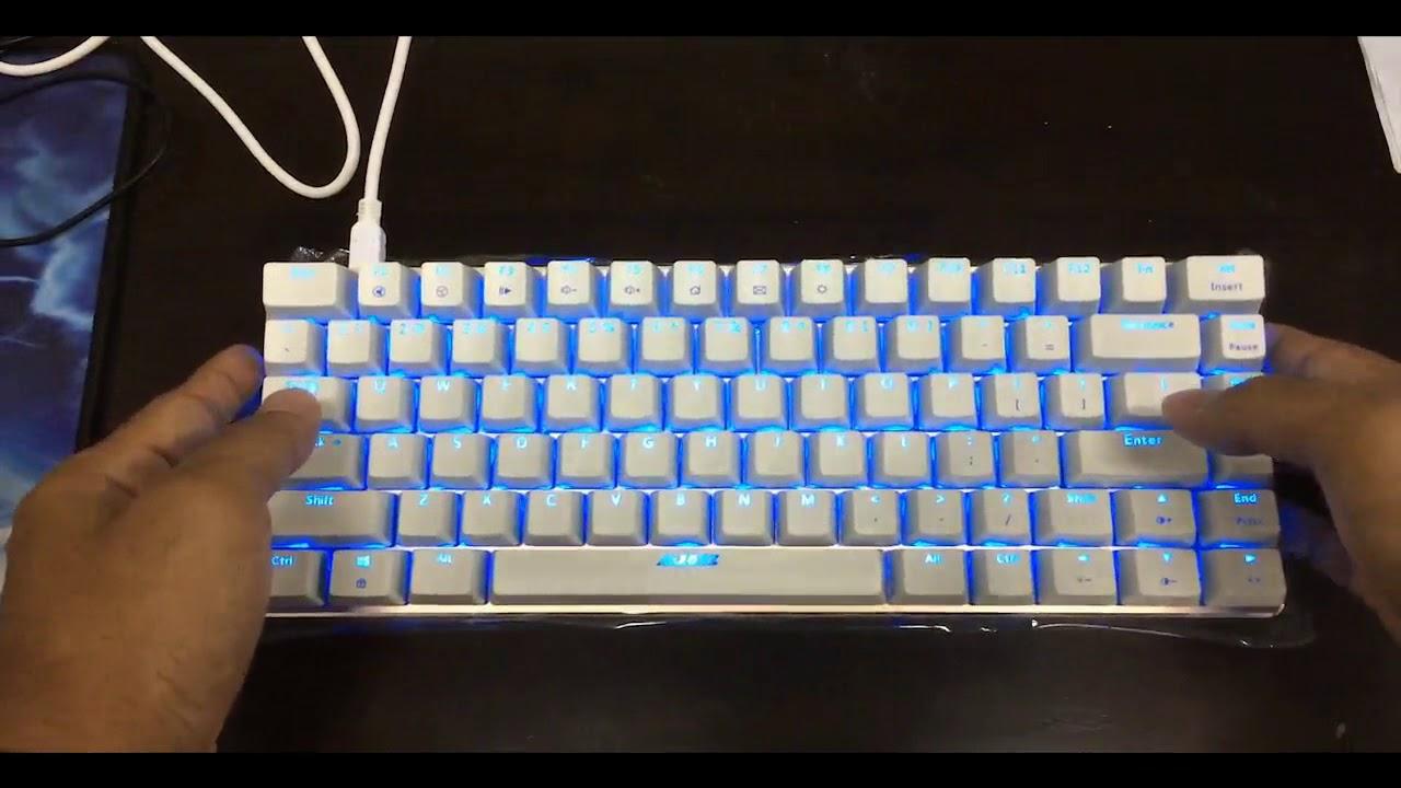 b97710ea482 AJAZZ AK33 82 KEYS WHITE BASE BLUE SWITCH MECHANICAL KEYBOARD Review.  Novero Gaming Store