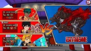 Ninja Saga - 3vs3 R.Balaj + Horse + Free Guy vs MONSTERS.