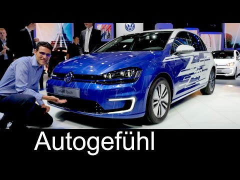 VW e-Golf Touch new 300 km as Volkswagen Golf Facelift preview - Autogefühl