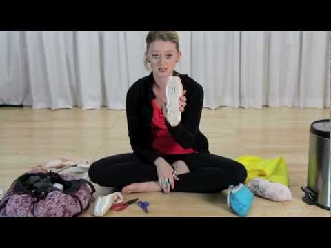 Ask a Ballerina- Nikki shows how to break in and 3/4 shank pointe shoes
