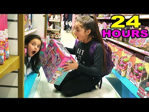 24 HOUR CHALLENGE OVERNIGHT IN HAMLEY'S TOY STORE!!