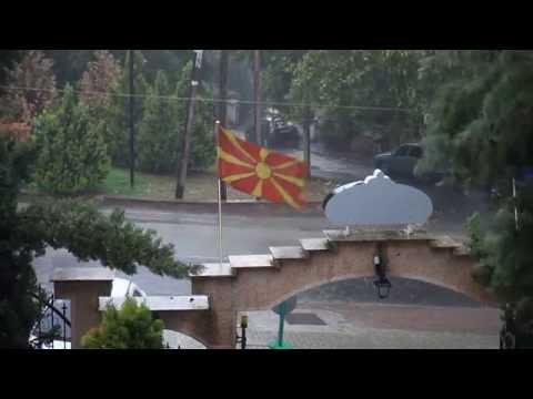 Regen in Skopje