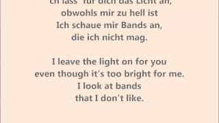 Ich lass für dich das Licht an — Revolverheld (English & German lyrics)