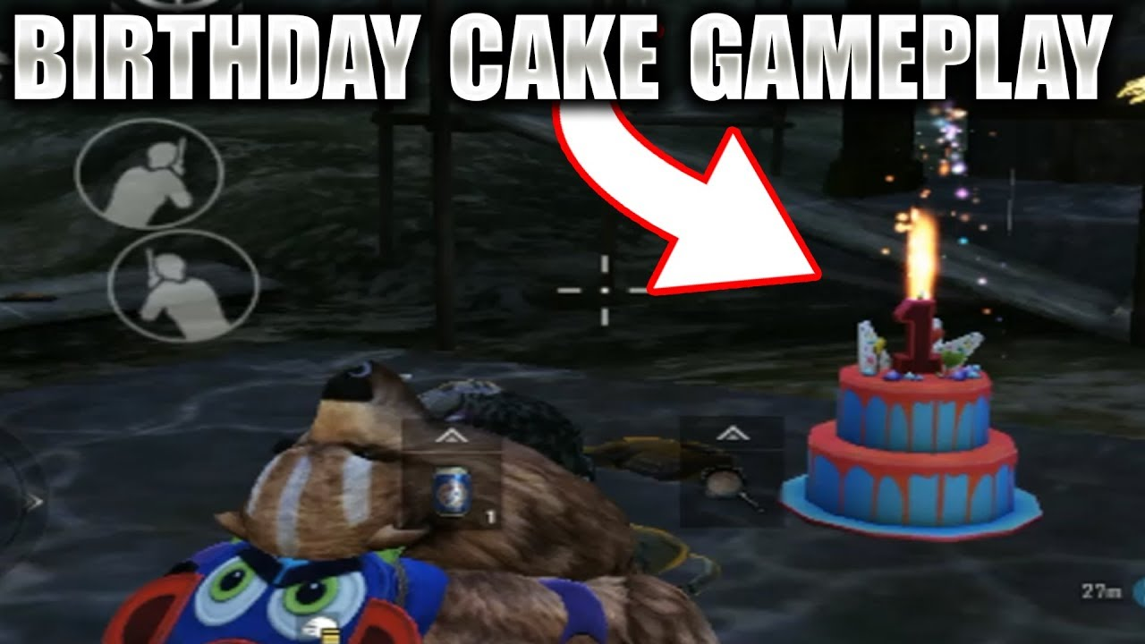 New In Game Birthday Cake Gameplay In Pubg Mobile Where How To