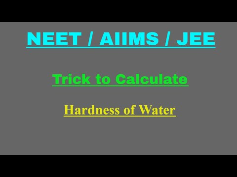 Hardness Of Water| Determination Of Hardness Of Water | Calculation Of Hardness | Degree Of Hardness
