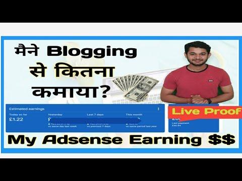 Google Adsense Earnings in India    My Blog Earnings From