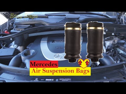 How To Replace Mercedes Rear Air Suspension Bags on GL Class X164 Chassis   GL450 Air Spring