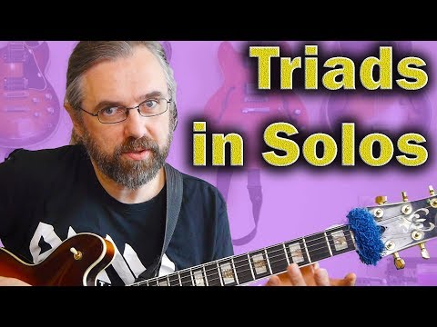 How to use triads in solos - jazz guitar lesson