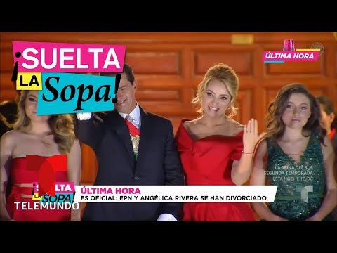 Peña Nieto oficializó su divorcio de 'La Gaviota'   Suelta La Sopa   Entretenimiento