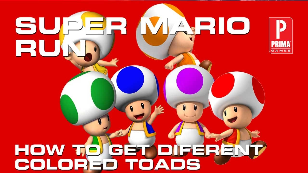 Super Mario Run How To Get Different Colored Toads