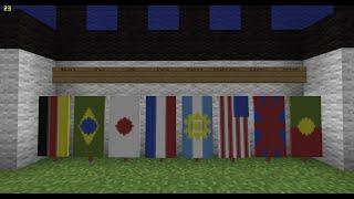 Minecraft Como Fazer Bandeiras de Países