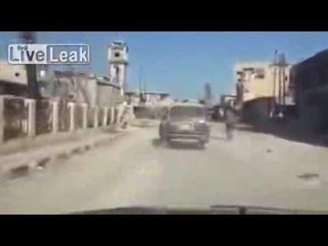 Driving Through Al Qusayr & Aftermath   Syria War 9 06 2013