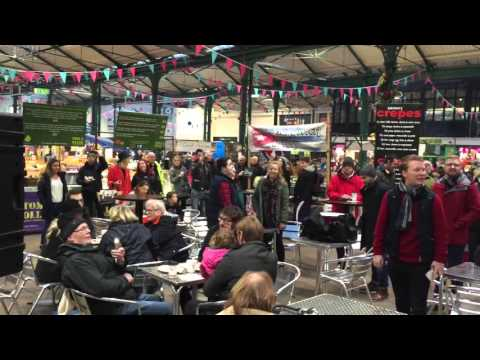 Peter Corry flash mob at St George's Market