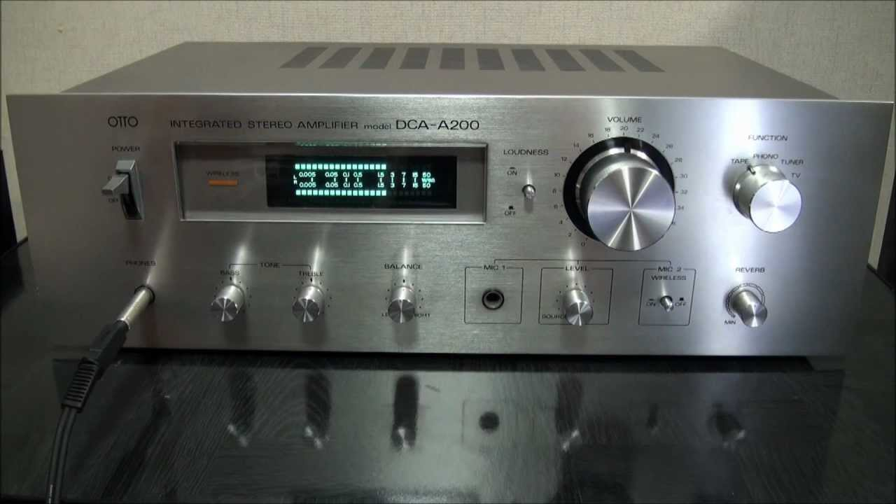 otto sanyo dca a200 1978 stereo amplifier hd youtube. Black Bedroom Furniture Sets. Home Design Ideas
