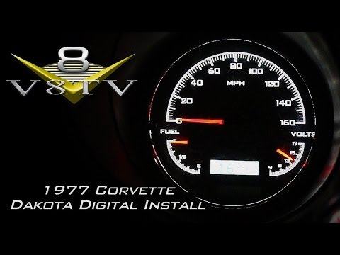 C3 Corvette Interior Upgrades Video Series Part 1 of 2  - Dakota Digital Gauges, Vintage Air V8TV