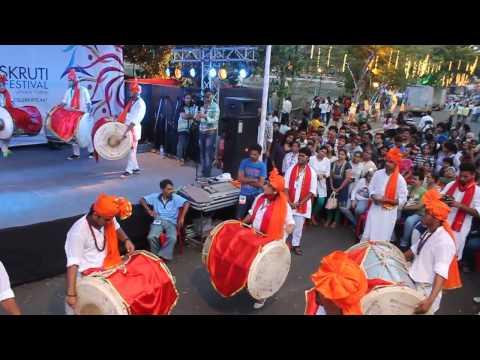Swayambhu Sanskruti Vadhya Pathak Thane performing at Upvan Lake in Sanskruti Art festival Part - II