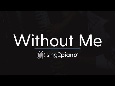 Without Me (Piano Karaoke Instrumental) Halsey