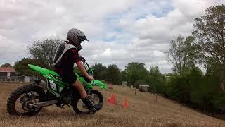 Riding my new Kawasaki kx 85 it is so dam fast