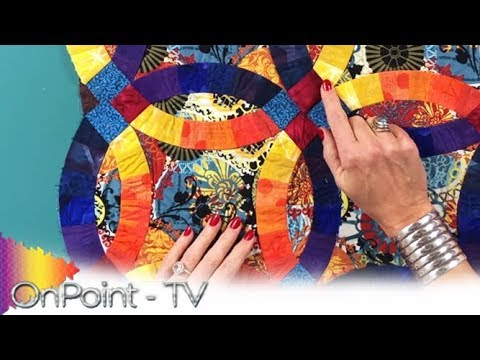 Onpoint Tv Ep 405 Double Wedding Ring Quilt Show Youtube