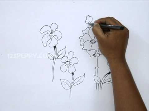 How To Draw Bee Flower