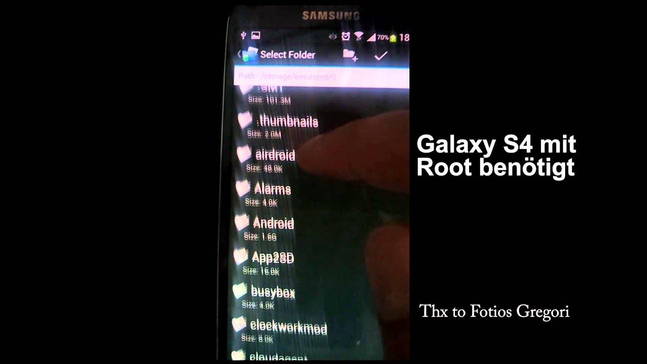 Fotos Auf Sd Karte Verschieben S4.Galaxy S4 Apps Auf Die Externe Sd Karte
